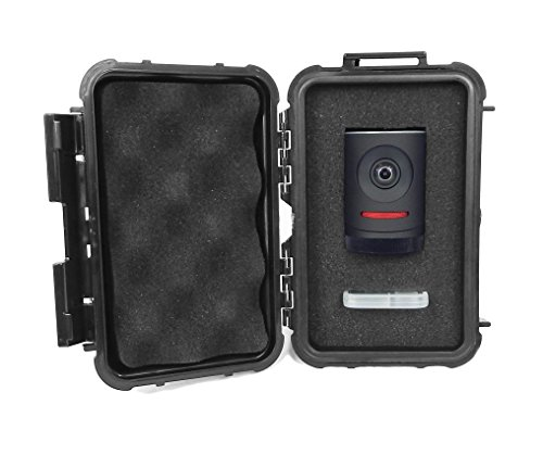 CASEMATIX Waterproof Compact Livestream Camera Case Bag - Designed to Carry Mevo Live Event Camera and Memory Cards / Adapter While Traveling - Built With Rugged Outer Shell and Dense Padded Foam