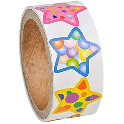 Rhode Island Novelty Star Roll Stickers, 100 Stickers per roll, 2 Rolls: Toys & Games