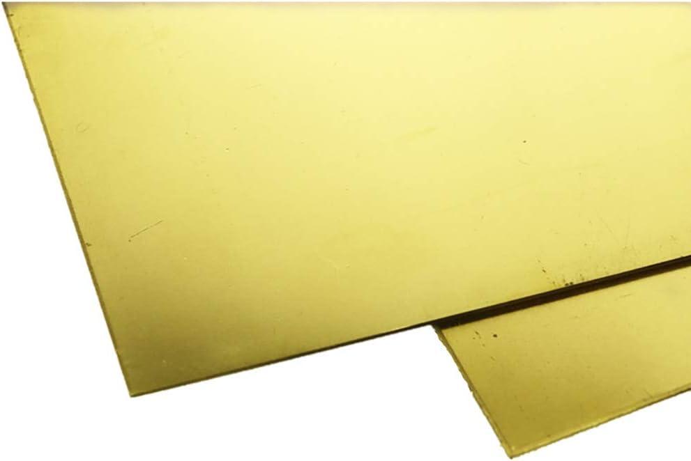 SOFIALXC Feuilles De Laiton M/étal T/ôle Assiettes Plates 2 Comprim/és 100x100mm-Thickness 1.5mm