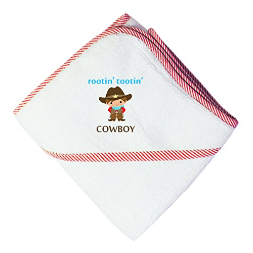 Cute Rascals Rootin' Tootin' Cowboy Cotton Baby Hooded Towel Red