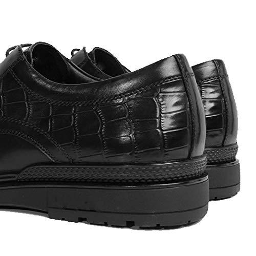 in da Black Summer Leisure Broch Fashion Britannico Stile Business Fashion Pelle Scarpe Uomo qw4ZxpgpX