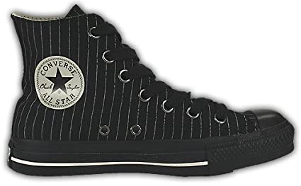 Converse All Stars Nadelstreifen Chucks HI Black Parch 1T009 Größe 42 (UK: 8,5)