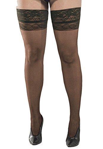 baf69689a7 Margherita Curvy porta autoreggenti Maglietta in pizzo taglie forti porta autoreggenti  Nero 3 Misure: Amazon.it: Abbigliamento