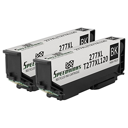 Speedy Inks - 2pk Remanufactured Epson 277XL T277XL120 High-Capacity Black Ink for use in Epson Expression Photo XP-850 Small-in-One, Epson Expression Photo XP-950, Epson Expression Photo XP-860