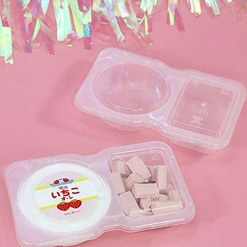 JUNESUN 140ml Clear Plastic Sauce Chutney Cups Food Container Slime Storage Box Case with Lid by JUNESUN (Image #1)
