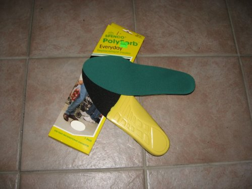 Spenco Polysorb Everyday Replacement Insoles M:6-7, W:7-8