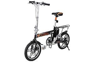 Airwheel R5 - bicicleta eléctrica plegable, bici pedelec con gran alcance hasta 100 km, ruedas de 16 pulgadas y cargador rápido (color negro): Amazon.es: ...