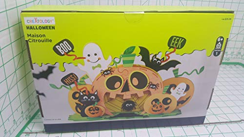 Creatology Halloween Pumpkin House with Black cat, bat, Spider and Ghosts 102 Pieces MSRP $19.99 -