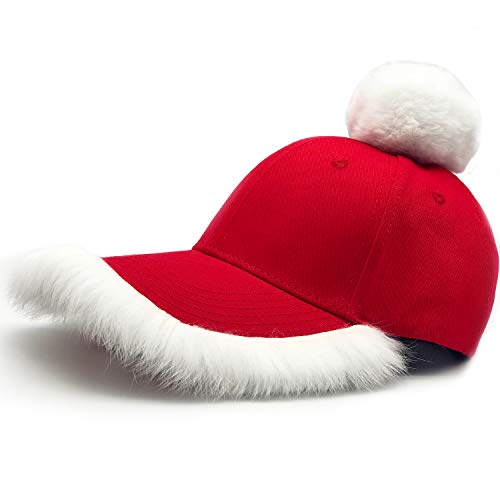WARMORE Santa Cap, Christmas Costume Baseball Cap Hat,Parent Child Outfit (Child) Red