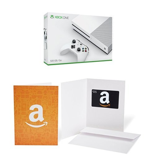 Xbox One S 500GB Console + $25 Amazon.com Gift Card Bundle