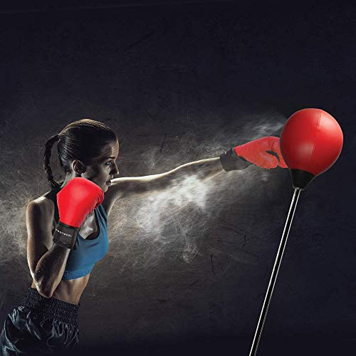 Protocol All-in-One Boxing Set | Punching Ball with Adjustable Height Stand That Withstands Tough Beatings| Includes Jump Rope, Comfortable Boxing Gloves, and Inflation Pump | Great Value by Protocol (Image #8)