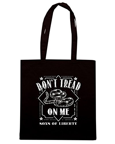 T-Shirtshock - Bolsa para la compra TM0708 dont tread on me Negro