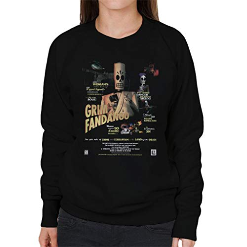 Cloud City 7 Grim Fandango Cover Womens Sweatshirt: Amazon.es: Ropa y accesorios