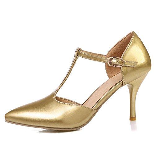 Gold Donna T Strap 1 Zanpa Mode Sandali Y7qOZwF