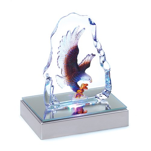 Eagle Crystal Figurine Statue With LED Light