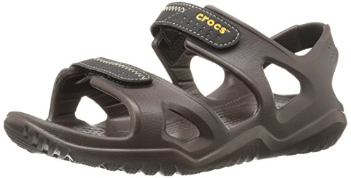 crocs Swiftwater River Sandal Espresso / Noir Croslite