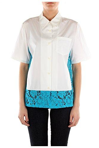 P461AUBIANCOTURCHESE Prada Camisas Mujer Algodón Blanco Blanco