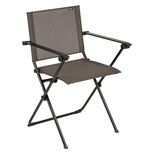 Lafuma Anytime Folding Armchair - Black Steel Frame with ...