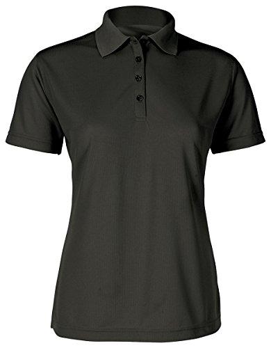 Paragon Women's 4-Button Performance Polo Shirt, Black, X-Large by Paragon