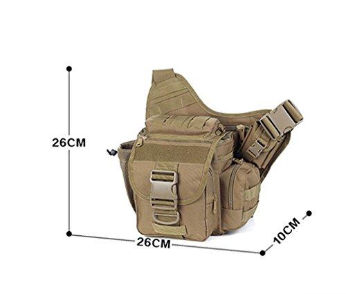 TaoMi- Mochila al aire libre - bolsa de la cámara bolso de camuflaje hombro hombres y mujeres paquete al aire libre deporte bolsa Messenger Bag ( Color : D , Tamaño : 20L or less ) A