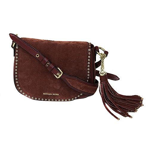 9df05e22ea30 Michael Michael Kors Brooklyn Medium Leather Saddle Bag