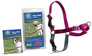 PetSafe Easy Walk Harness,  Large, RASPBERRY/GREY for Dogs