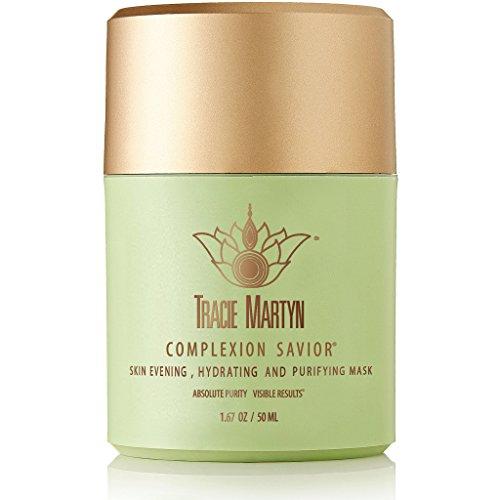 Tracie Martyn Complexion Savior | Clarifying & Hydrating Overnight Face Mask | With Organic Aloe Vera & Azelaic Acid | Good for All Skin Types | 1.67 fl. oz.