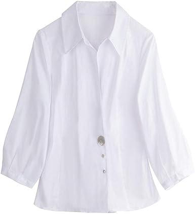 Blusas Y Camisas para Mujer Otoño Nuevos Tops Camisa Blanca ...