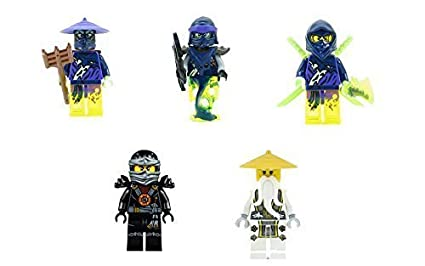 Amazon.com: LEGO Ninjago - Set of 5 Minifigures (Master Wu ...