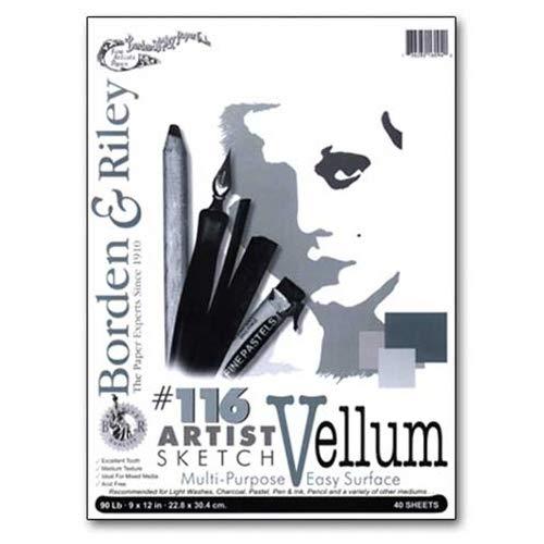 Borden & Riley - #116 Artist Sketch Vellum Pad - 18'' x 24''