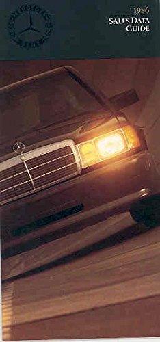 - 1986 Mercedes Benz Salesman's Data Guide Brochure