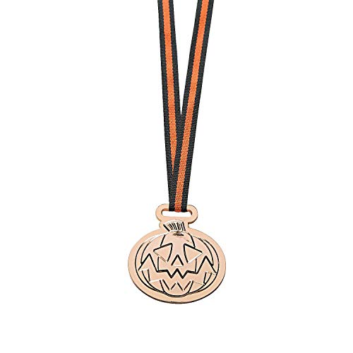 Fun Express Halloween Medals - 12 Pieces