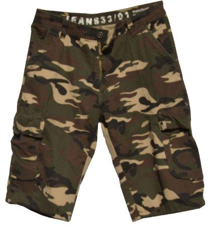Men's Military-Style Camouflage Cargo Pocket Shorts #27sC3-Desert Color size:40