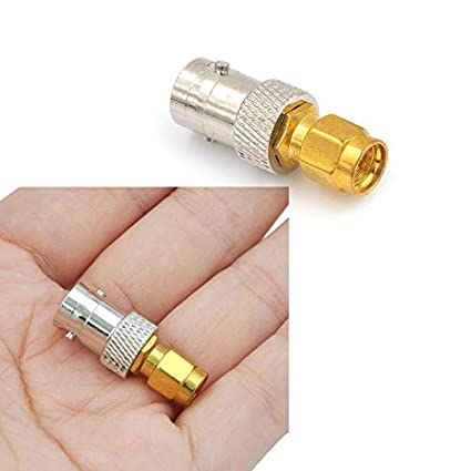 RF Coax Coaxial SMA Male Plug to BNC Female M//F Connector Radio Antenna Adapter