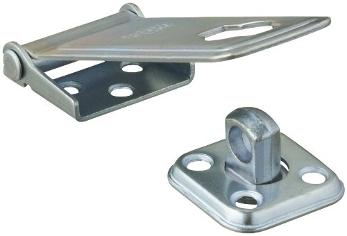 [Stanley Hardware 4-1/2-Inch Latching Post Safety Hasp, Zinc Plated #811910700] (Stanley Hasp)