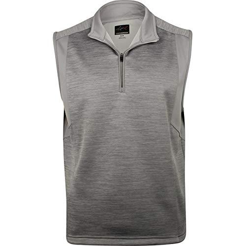 Greg Norman Men's 1/4-Zip Heathered Fleece Vest, Sterling Heather, Medium ()