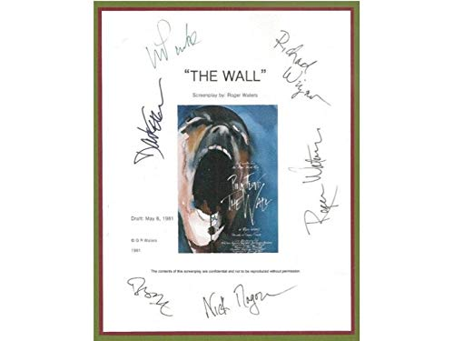 NHMug Pink Floyd The Wall Entire Movie Script Signed Poster Gifts for Lovers Poster [No Framed] Poster Home Art Wall Posters (24x36) -