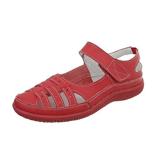 Zapatos para mujer Zapatos de tacon Plataforma Cuñas Ital-Design Rot 5008-2