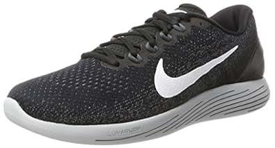 NIKE Men's Lunarglide 9 Black/White Dark Grey Running Shoe 8 Men US
