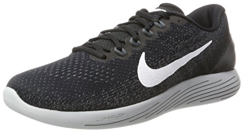 Nike Men's Lunarglide 9 Running Shoe Black/White/Dark Grey/Wolf Grey 10.5 D(M) US