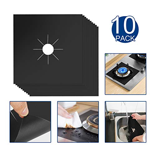 Gas Stove Protectors Stove Burner Covers for Stove Maintenance Reusable Non-Stick Dishwasher Safe Easy Cleaning 10.6