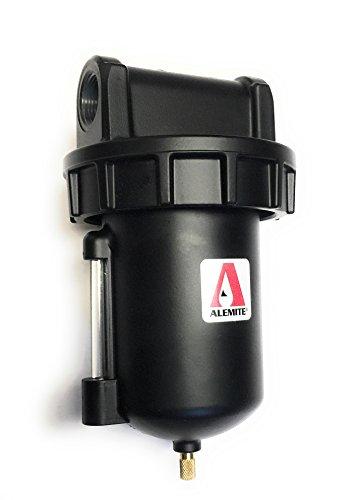 Alemite 5612-2 Moisture Separator, 16 oz Capacity, 235 CFM, Manual Drain, 3/4'' (NPTF) Inlet, 3/4'' (NPTF) Outlet, 3/4'' NPTF by Alemite