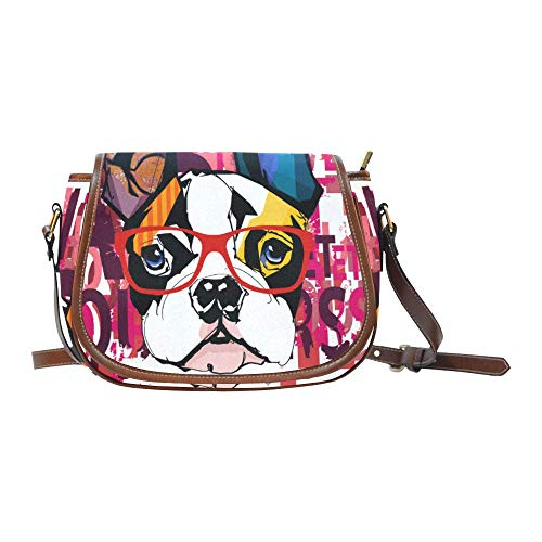 french bulldog messenger bag - 3