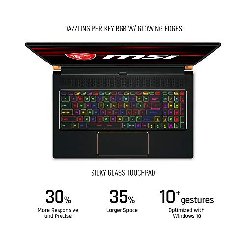 "MSI GS75 Stealth-247 17.3"" Gaming Laptop, 144Hz Display, Thin Bezel, Intel Core i7-9750H, NVIDIA GeForce RTX2080, 32GB, 512GB NVMe SSD, Thunderbolt 3"
