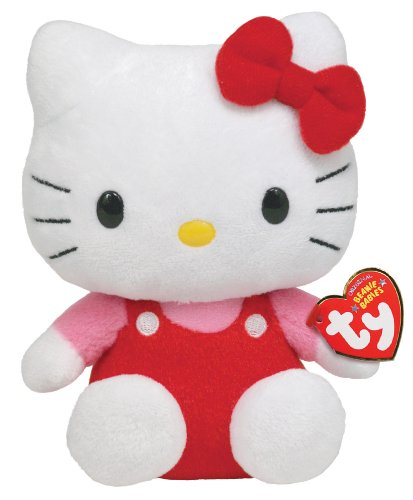 Ty Beanie Baby Hello Kitty Red Overalls Plush Toy