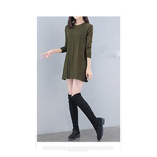 ample grande pour Pull Green long ZHJTMC femme taille slim EAfBq