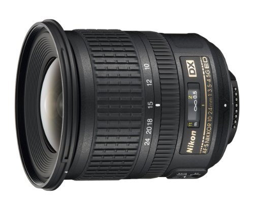 Nikon AF-S DX NIKKOR 10-24mm f/3.5-4.5G ED Zoom Lens with Auto Focus for Nikon DSLR Cameras