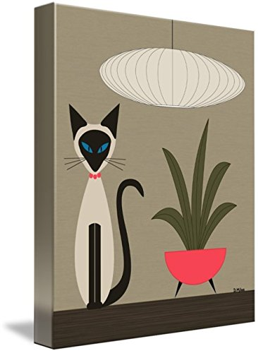 Wall Art Print entitled Siamese On Tabletop by Donna Mibus | 24 x 30