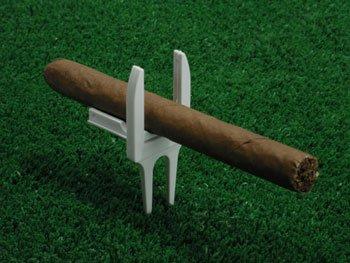 Cigar Holder Divot Tool - Little Judy Cigar Holder Golf Divot Tool White
