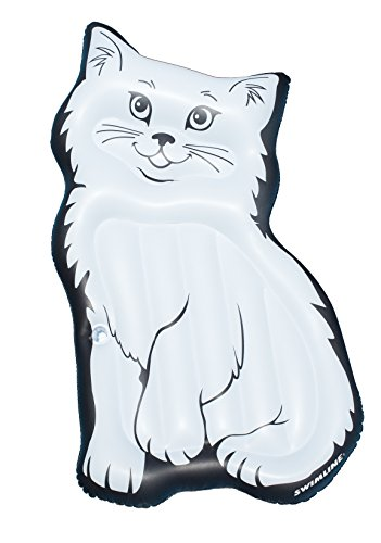 Purrrfect Cat (Swimline Purrrfect Kitty Mattress Pool Inflatable Ride-On, White)